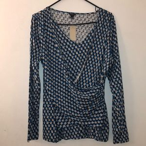 Brand New Ann Taylor Patterned Blouse Size L
